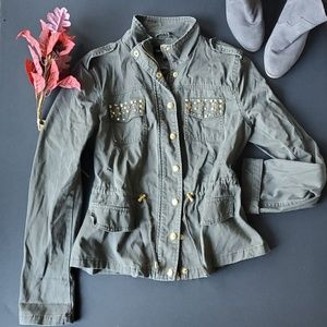 ⚘New Look Army Green Utility Jacket 100% cotton